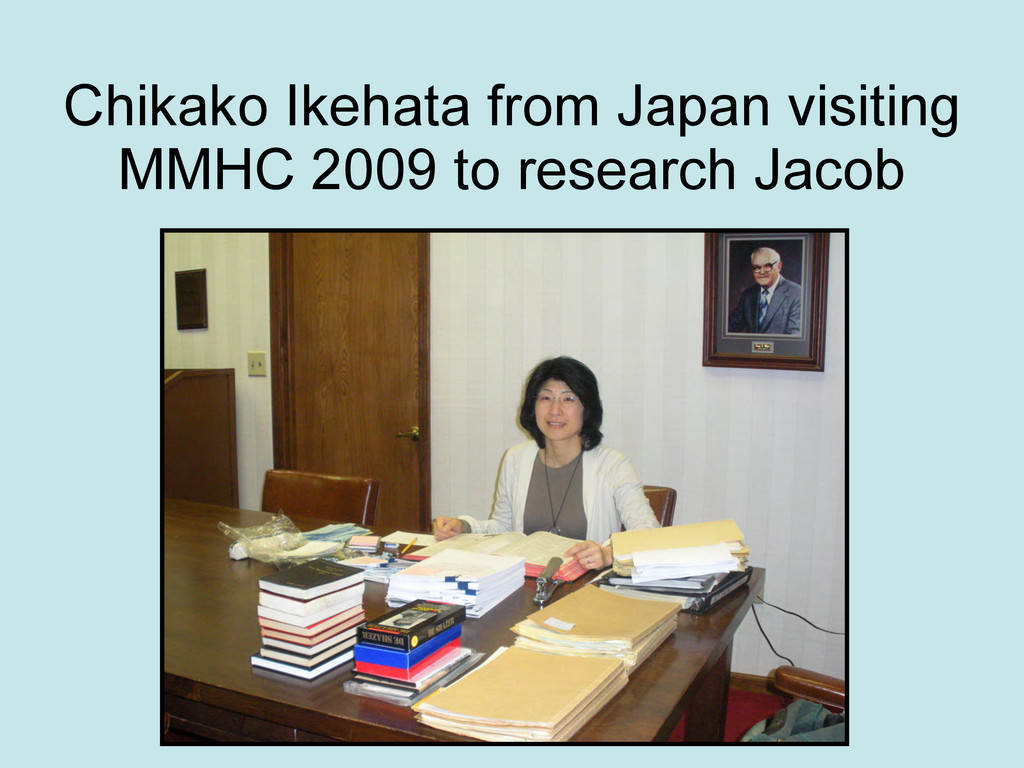 Chikako Ikehata from Japan visiting MMHC 2009 t...