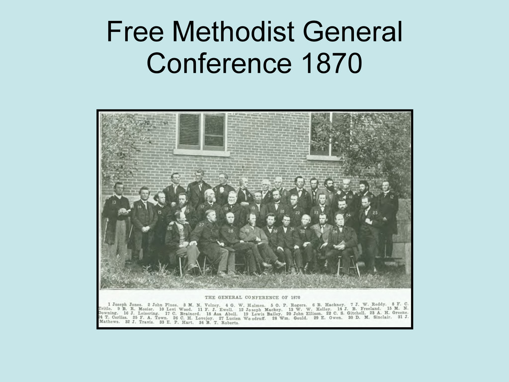 Free Methodist General Conference 1870