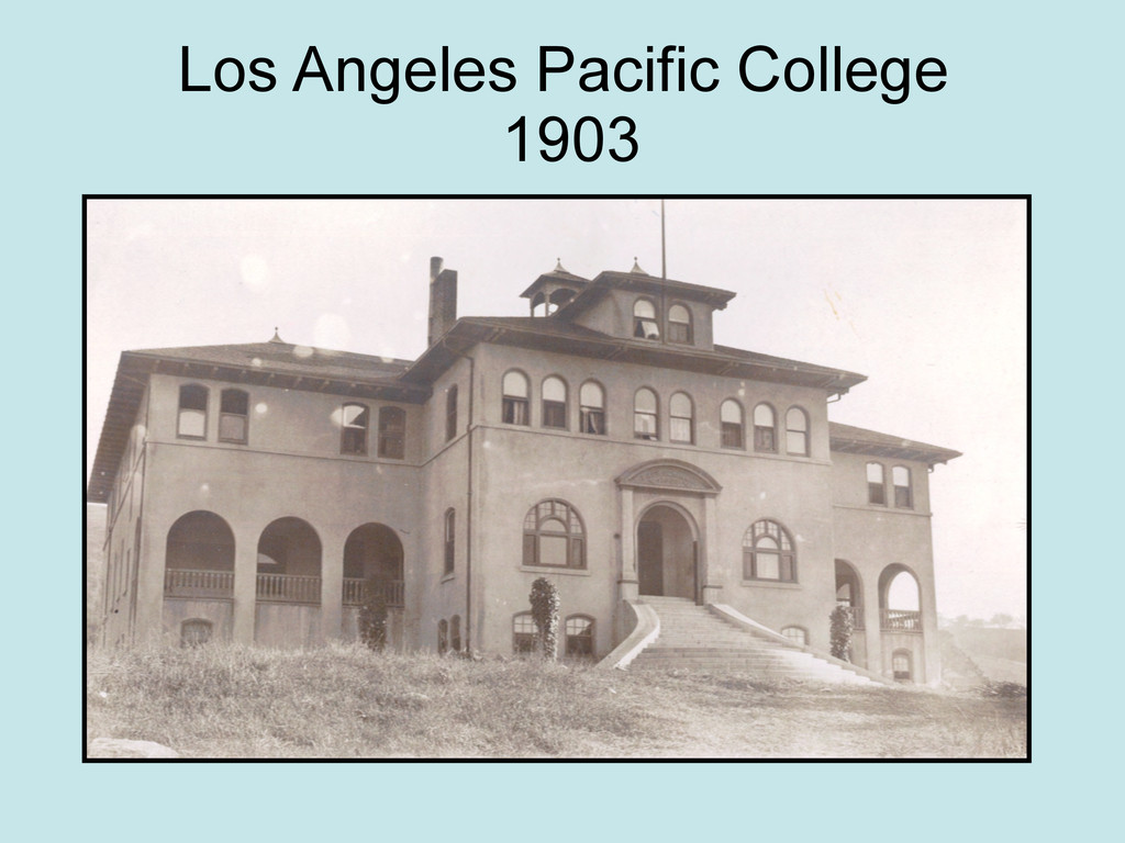 Los Angeles Pacific College 1903