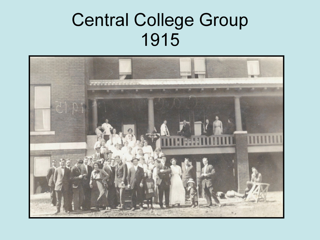 Central College Group 1915