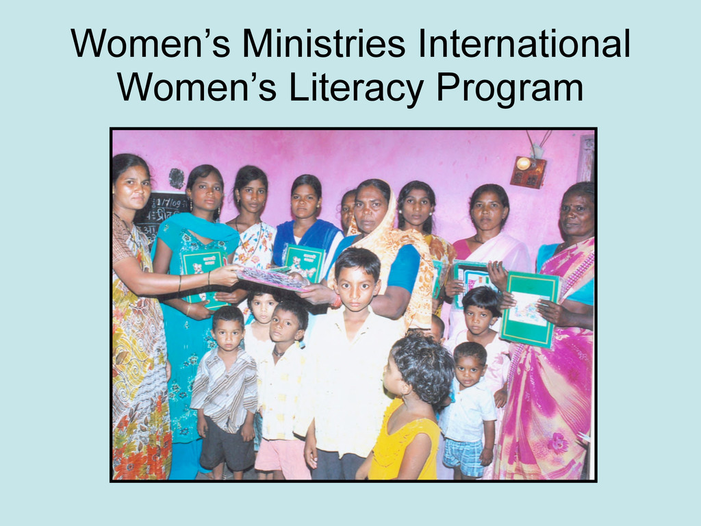 Women's Ministries International Women's Litera...
