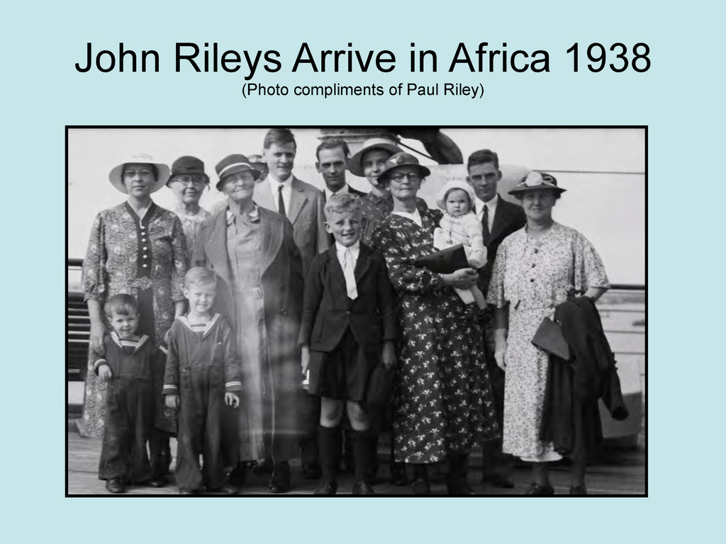 John Rileys Arrive in Africa 1938 (Photo compli...