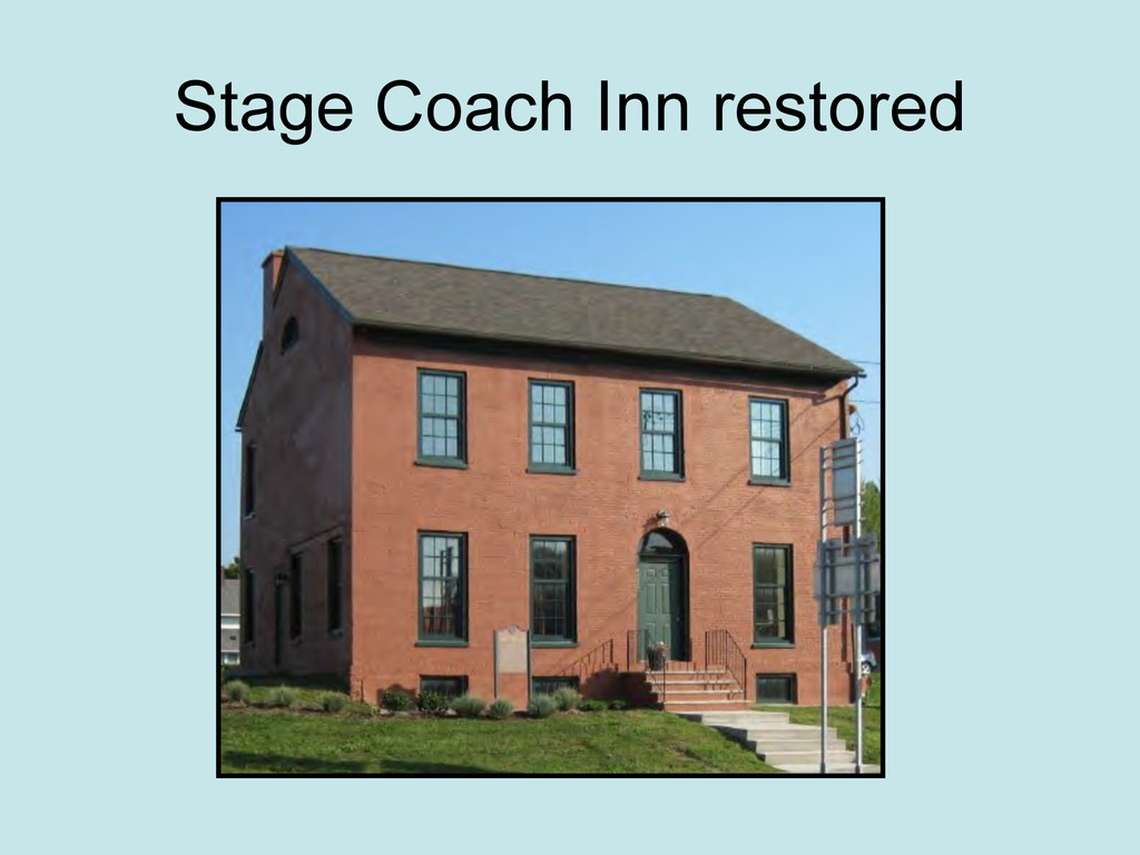 Stage Coach Inn restored