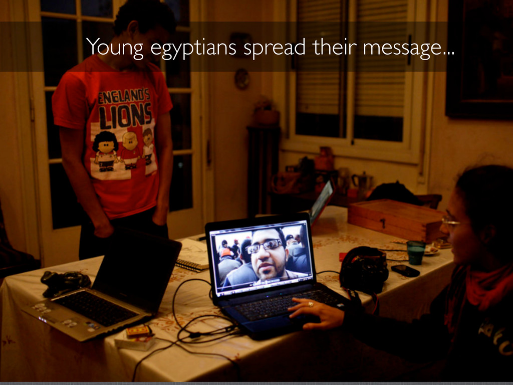 Young egyptians spread their message...