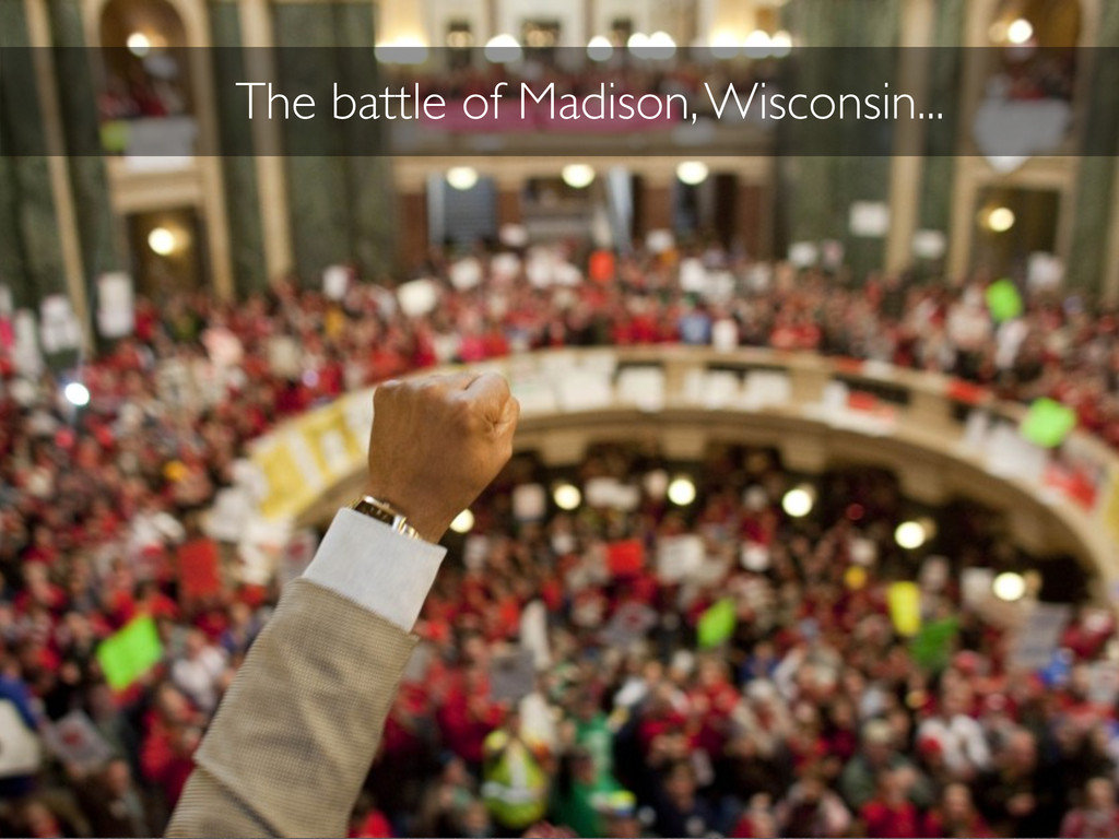 The battle of Madison, Wisconsin...