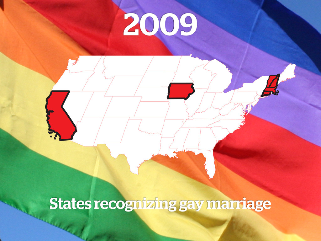 2009 States recognizing gay marriage
