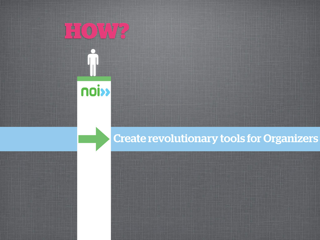 Create revolutionary tools for Organizers HOW?