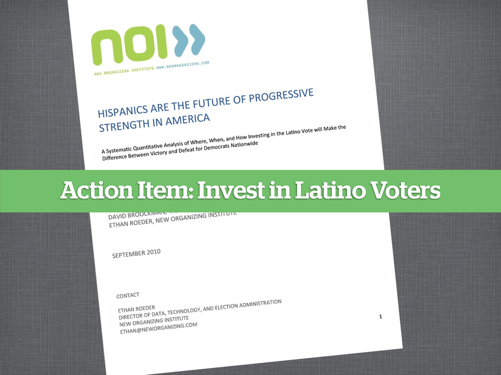 Action Item: Invest in Latino Voters