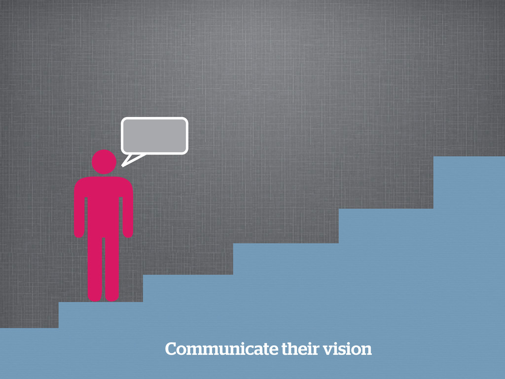 Communicate their vision