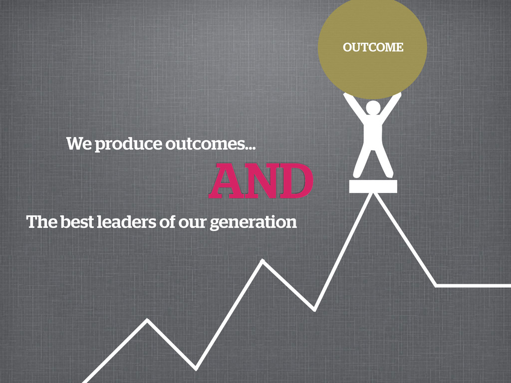 We produce outcomes... OUTCOME AND The best lea...