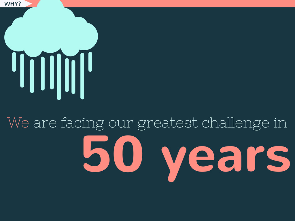 WHY? We are facing our greatest challenge in 50...