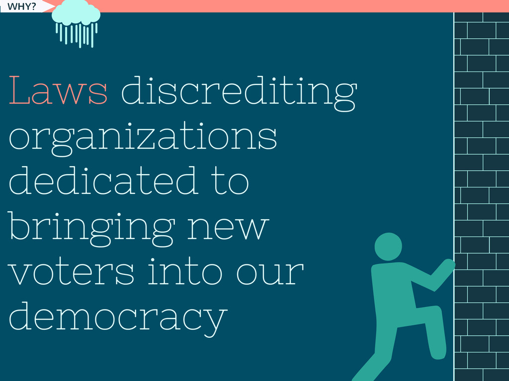 WHY? Laws discrediting organizations dedicated ...