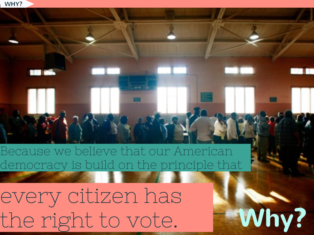 every citizen has the right to vote. Why? Becau...