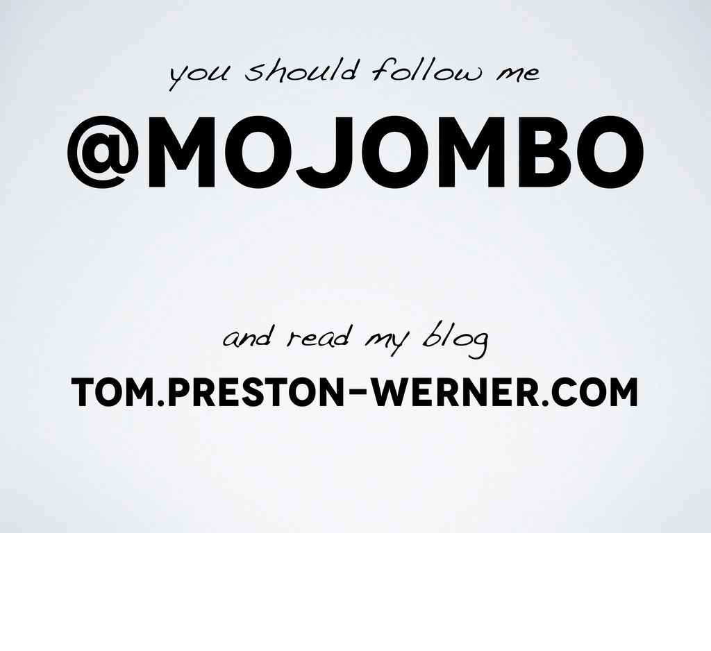 @mojombo you should follow me and read my blog ...