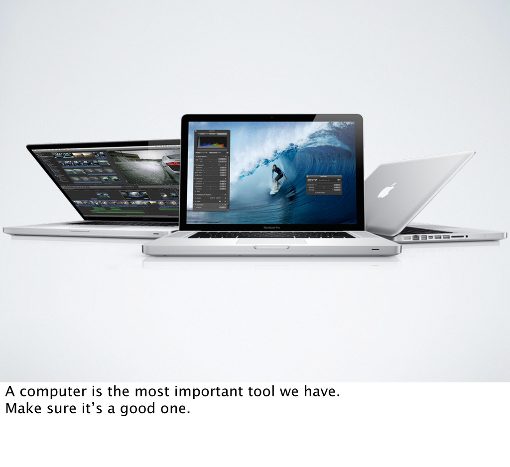 A computer is the most important tool we have. ...