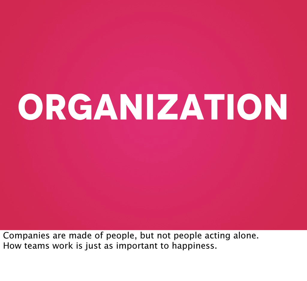 organization Companies are made of people, but ...