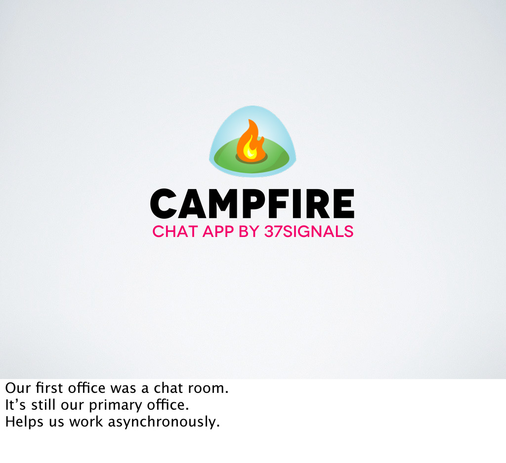 campfire chat app by 37signals Our first office ...