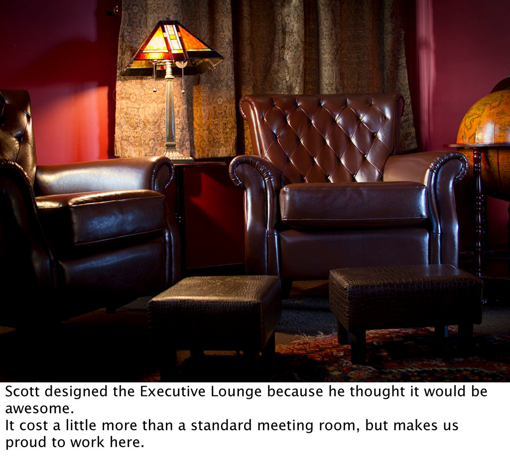 Scott designed the Executive Lounge because he ...