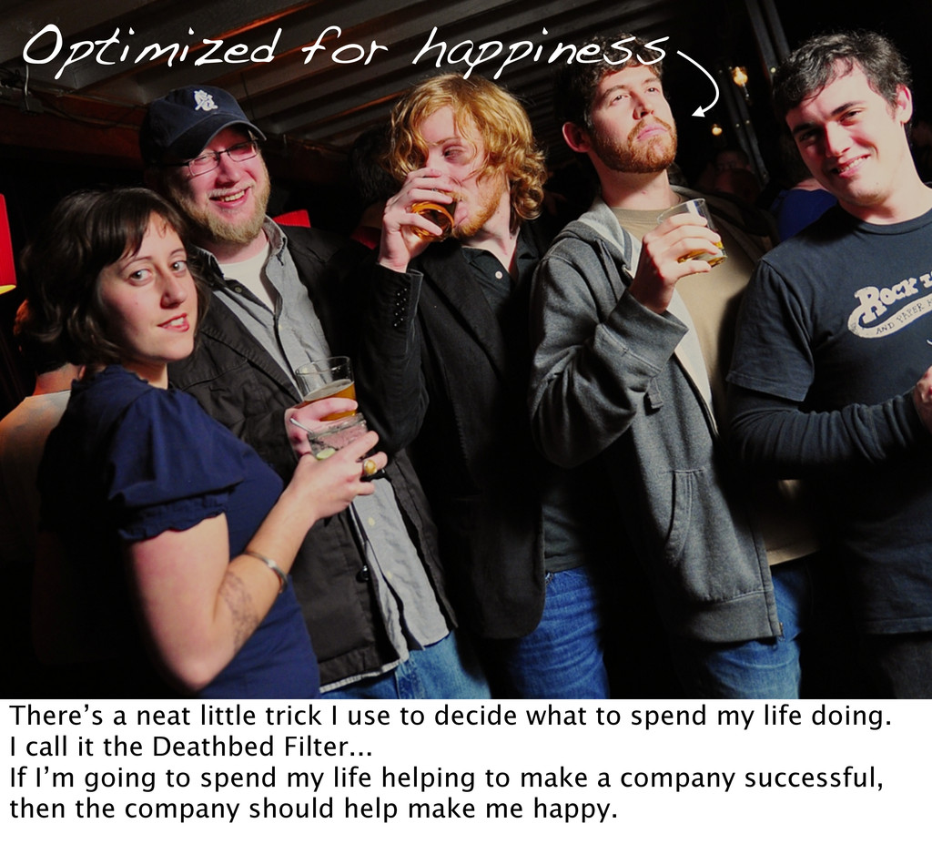 Optimized for happiness There's a neat little t...