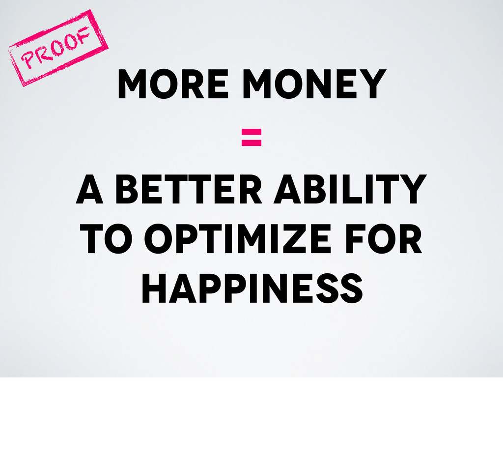 more money = a better ability to optimize for h...