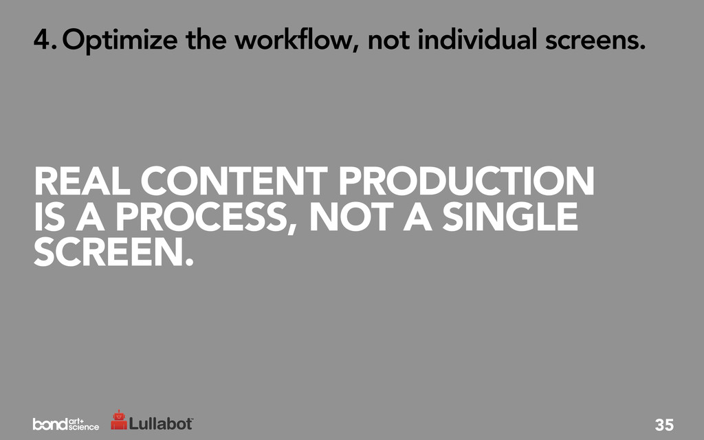 REAL CONTENT PRODUCTION IS A PROCESS, NOT A SIN...