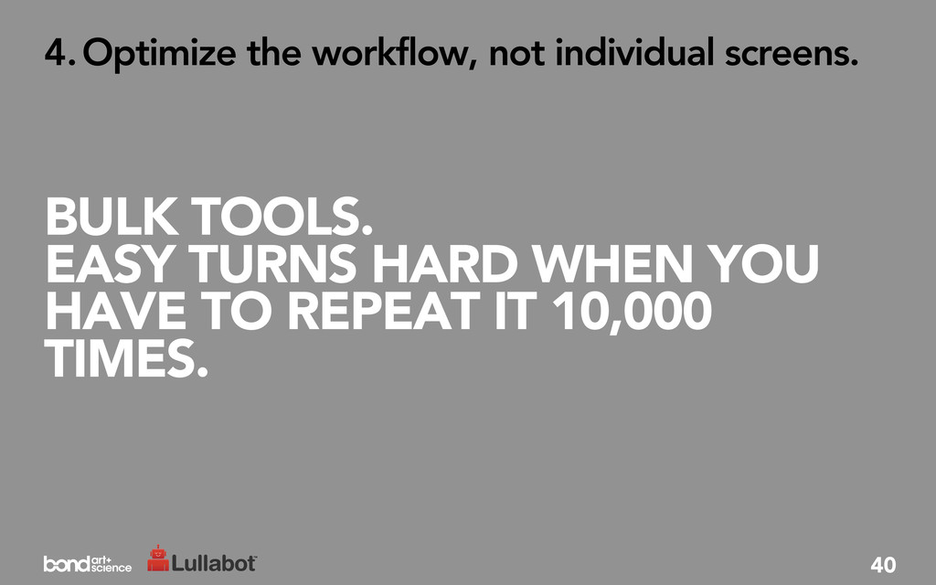 BULK TOOLS. EASY TURNS HARD WHEN YOU HAVE TO RE...