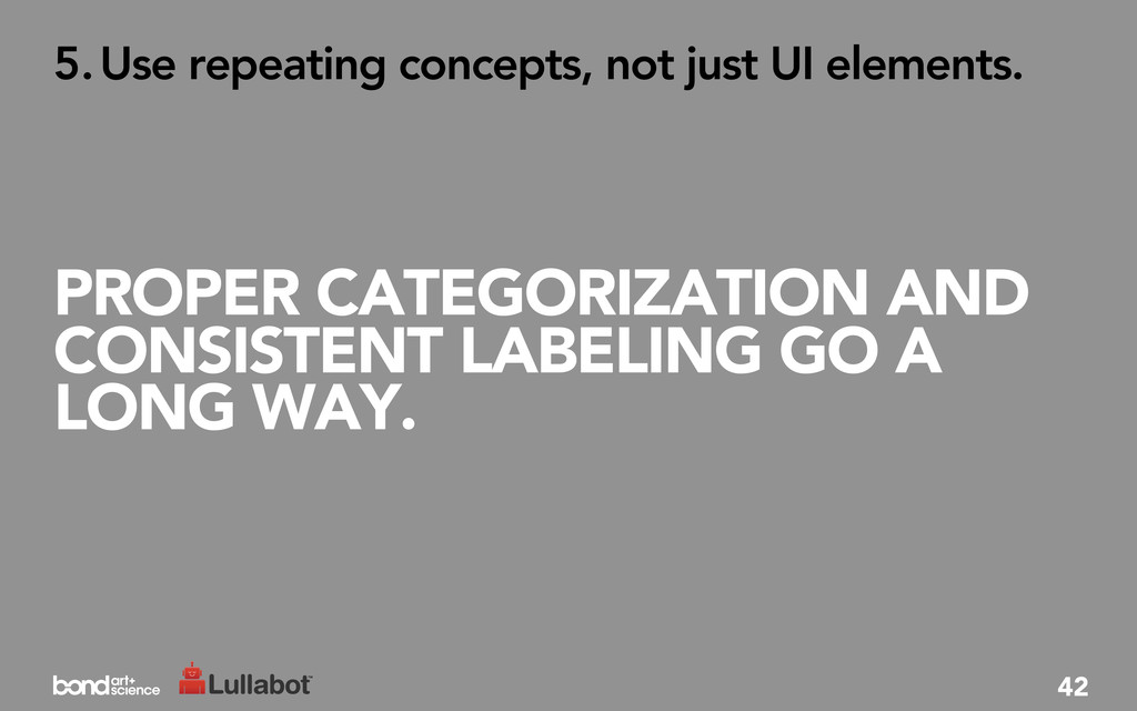 PROPER CATEGORIZATION AND CONSISTENT LABELING G...