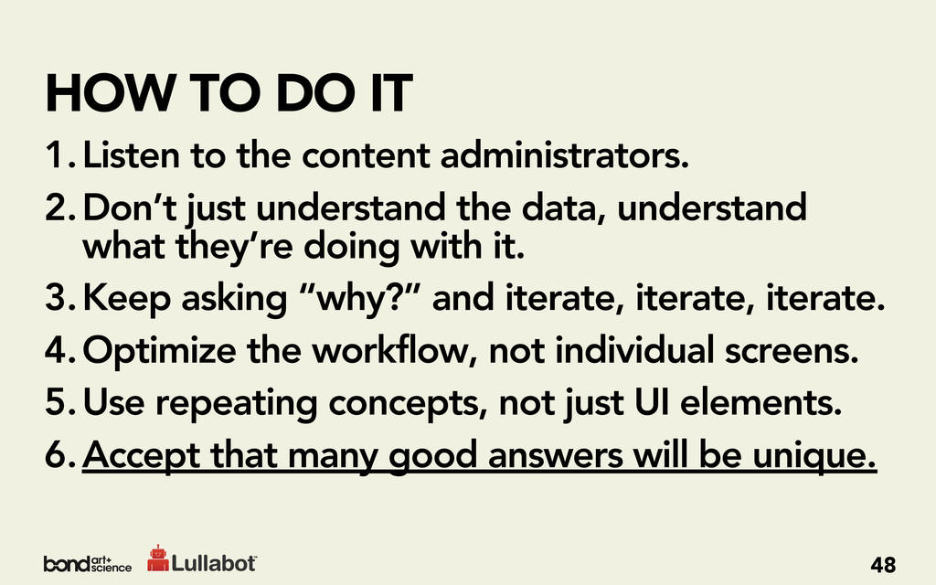 HOW TO DO IT 1.Listen to the content administra...