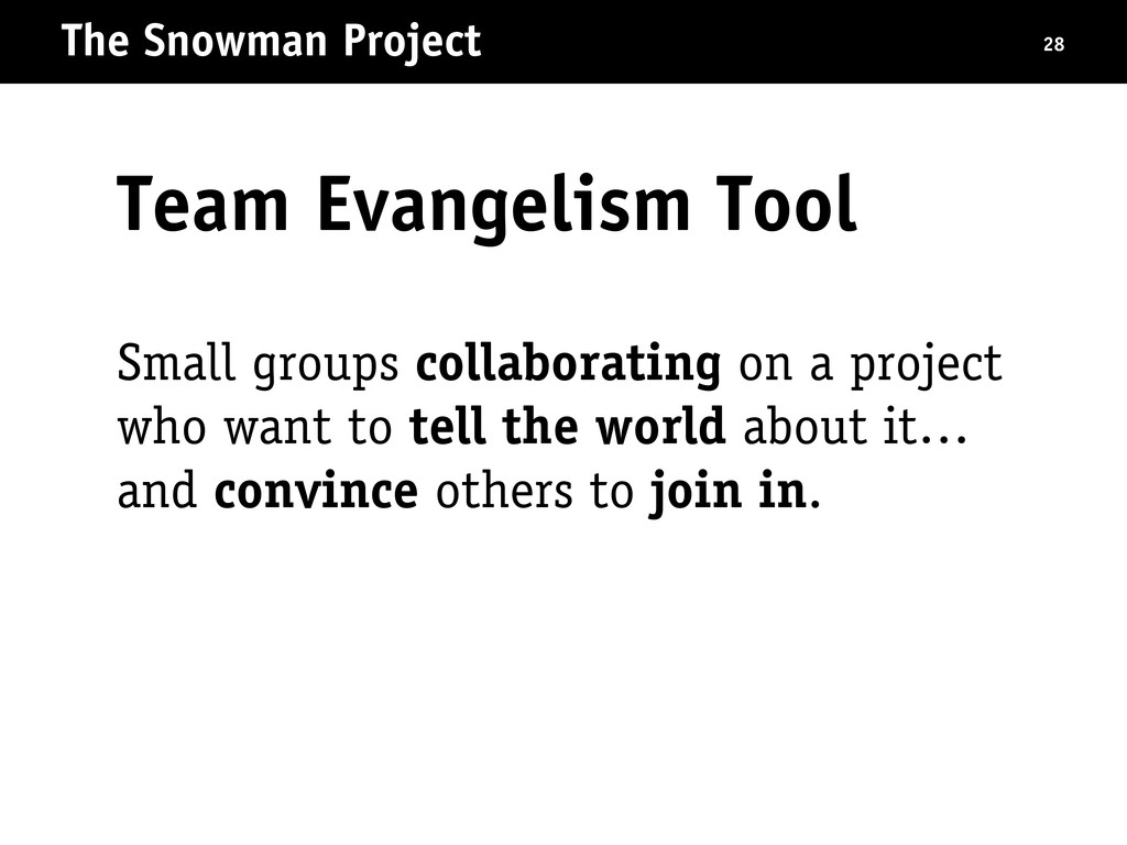 The Snowman Project 28 Small groups collaborati...