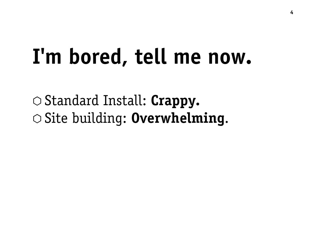 I'm bored, tell me now. ⬡ Standard Install: Cra...