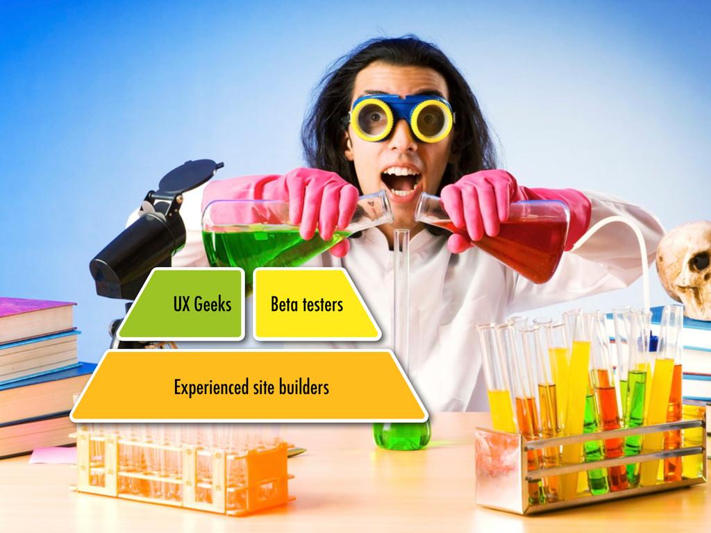 Experienced site builders UX Geeks Experienced ...