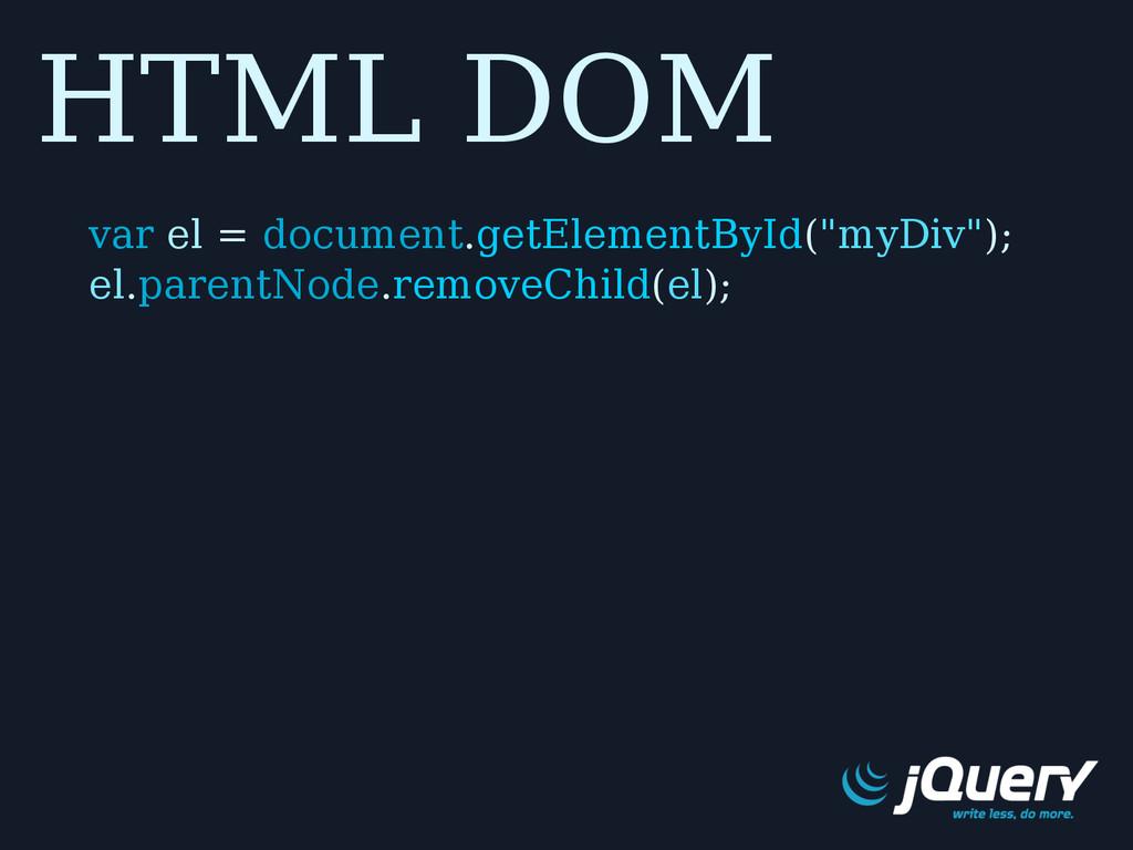"HTML DOM var el = document.getElementById(""myDi..."