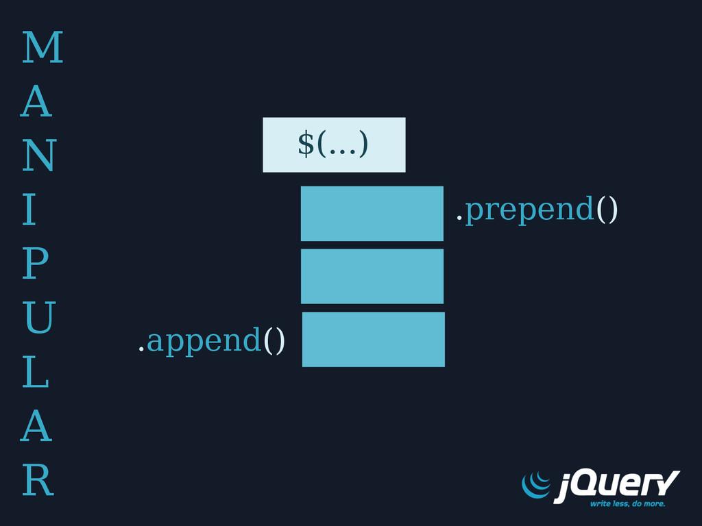 M A N I P U L A R .prepend() .append() $(...)