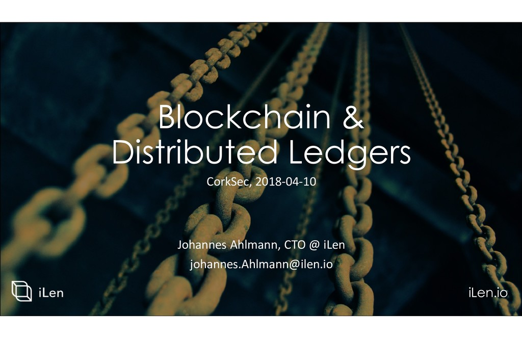 Blockchain & Distributed Ledgers Johannes Ahlma...