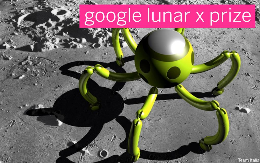 Team Italia google lunar x prize