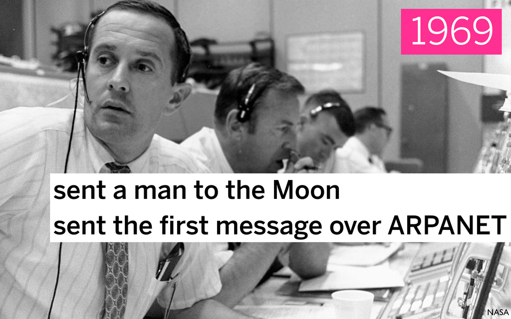 sent a man to the Moon sent the first message ov...