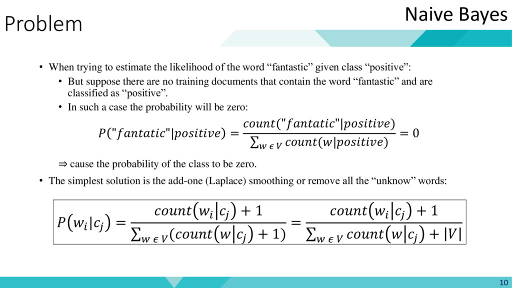 Problem • When trying to estimate the likelihoo...
