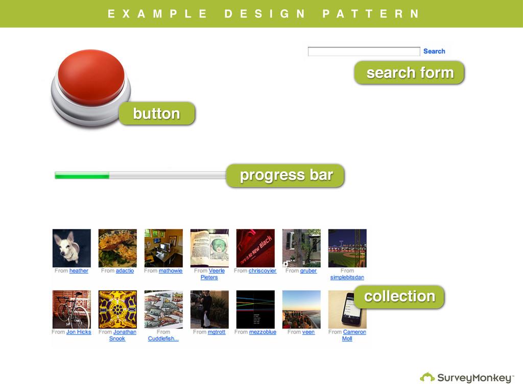 button search form progress bar E X A M P L E D...