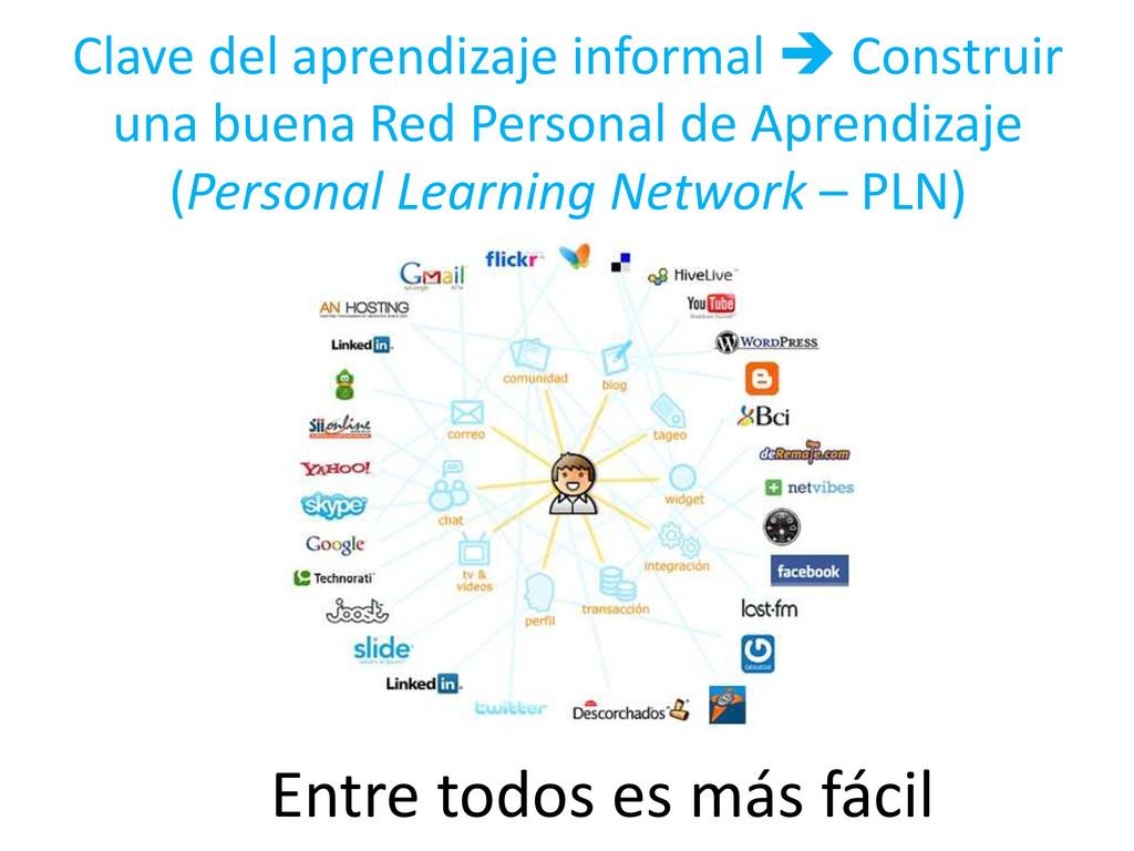 Clave del aprendizaje informal  Construir una ...