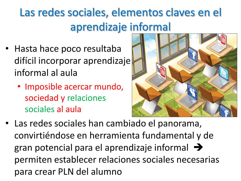 Las redes sociales, elementos claves en el apre...