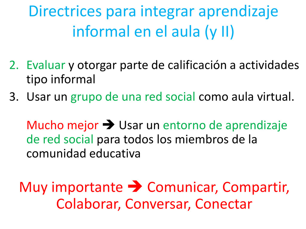 Directrices para integrar aprendizaje informal ...