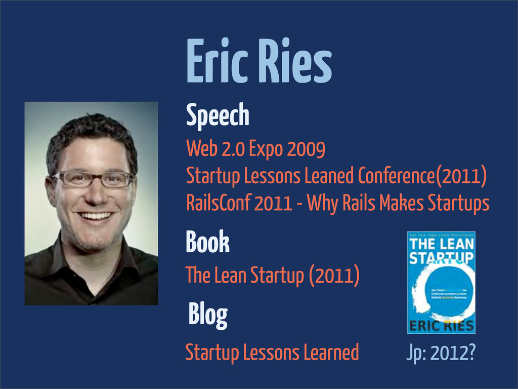 Eric Ries Speech Web 2.0 Expo 2009 Startup Less...