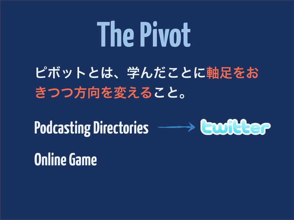 The Pivot ϐϘοτͱɺֶΜͩ͜ͱʹ࣠Λ͓ ͖ͭͭํΛม͑Δ͜ͱɻ Podcas...