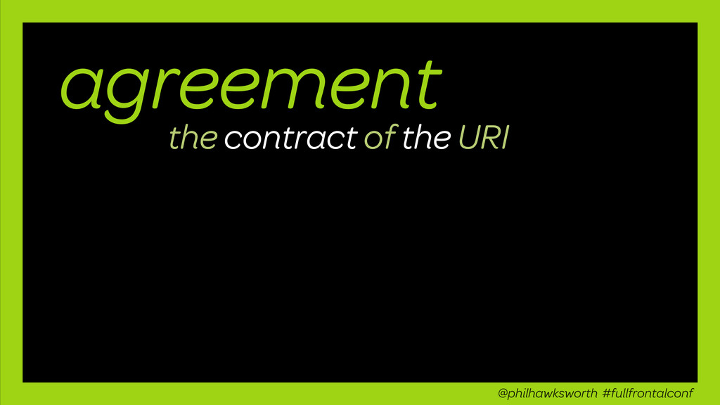 agreement the contract of the URI @philhawkswor...