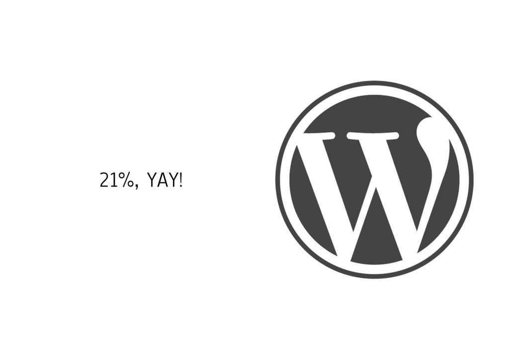 21%, YAY!