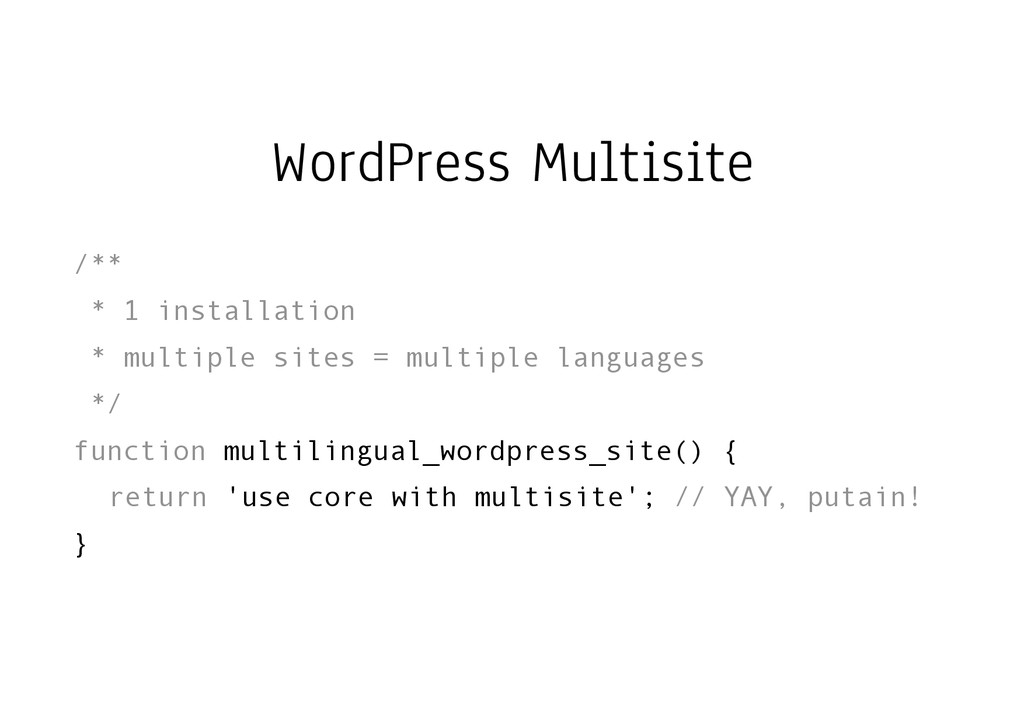 WordPress Multisite /** * 1 installation * mult...