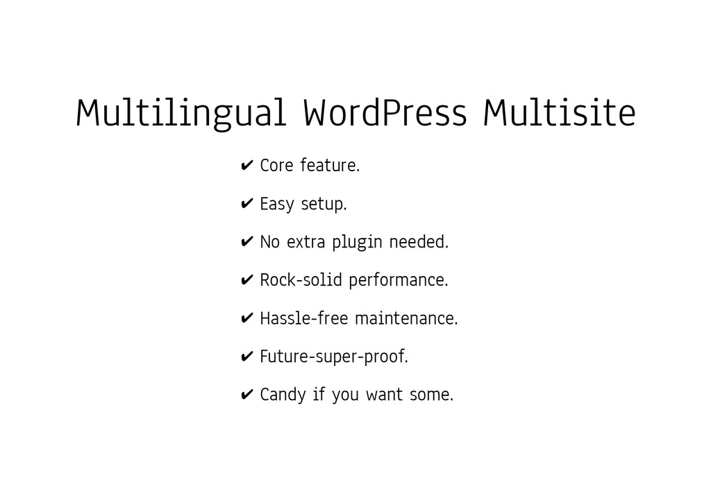 Multilingual WordPress Multisite ✔ Core feature...