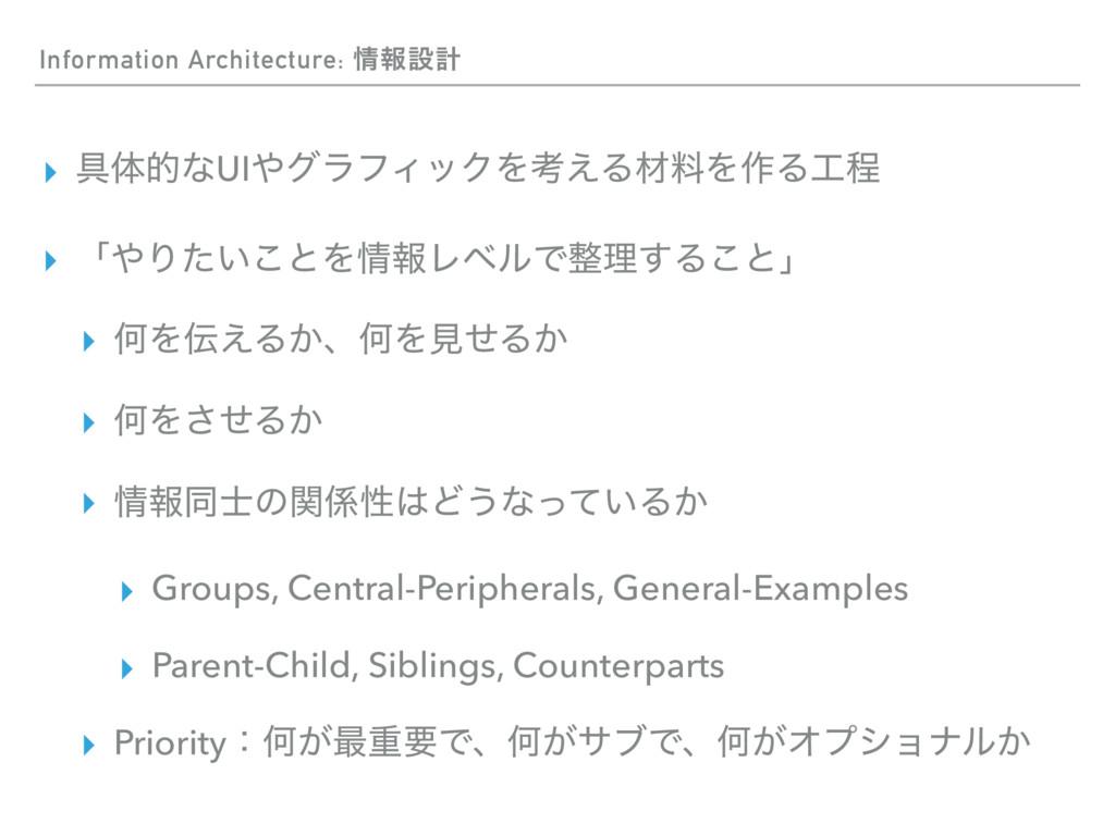Information Architecture: ใઃܭ ▸ ۩ମతͳUIάϥϑΟοΫΛ...