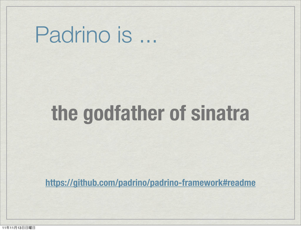 Padrino is ... the godfather of sinatra https:/...