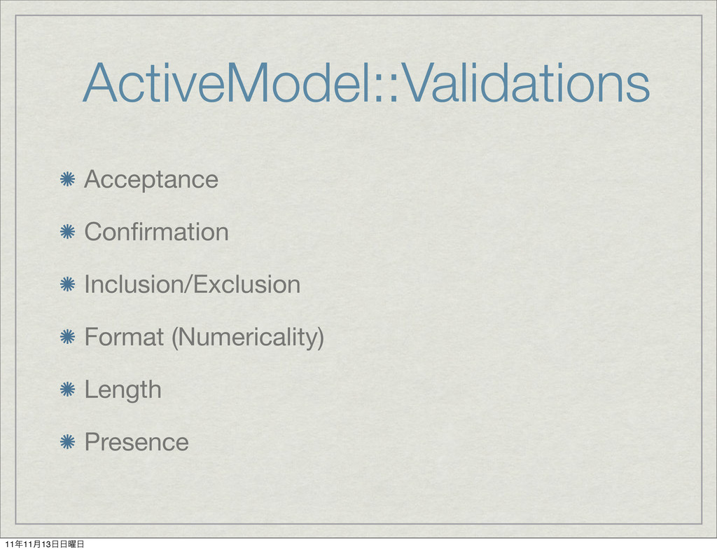 ActiveModel::Validations Acceptance Confirmation...